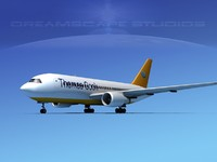 3d boeing 767 767-100 model