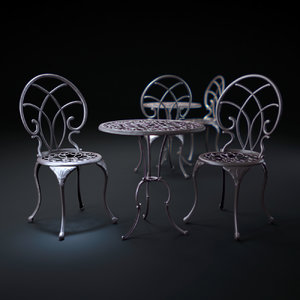 christopher-knight-home-charleston-aluminum-copper-bistro-set 3d max