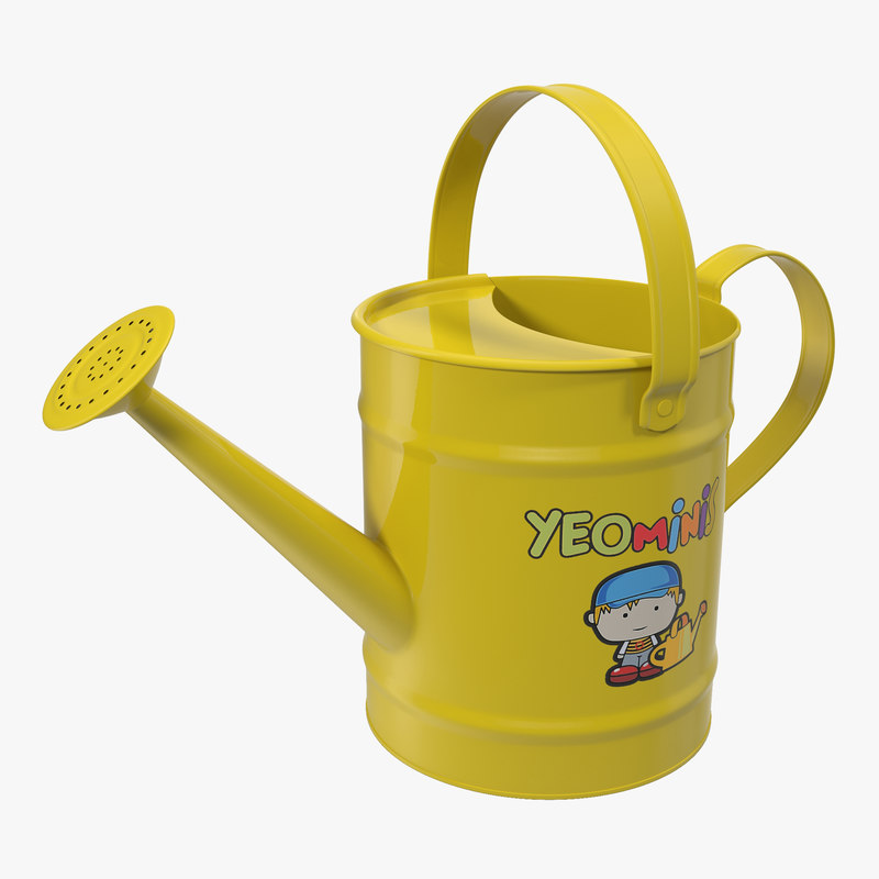 kids watering yellow 3d model
