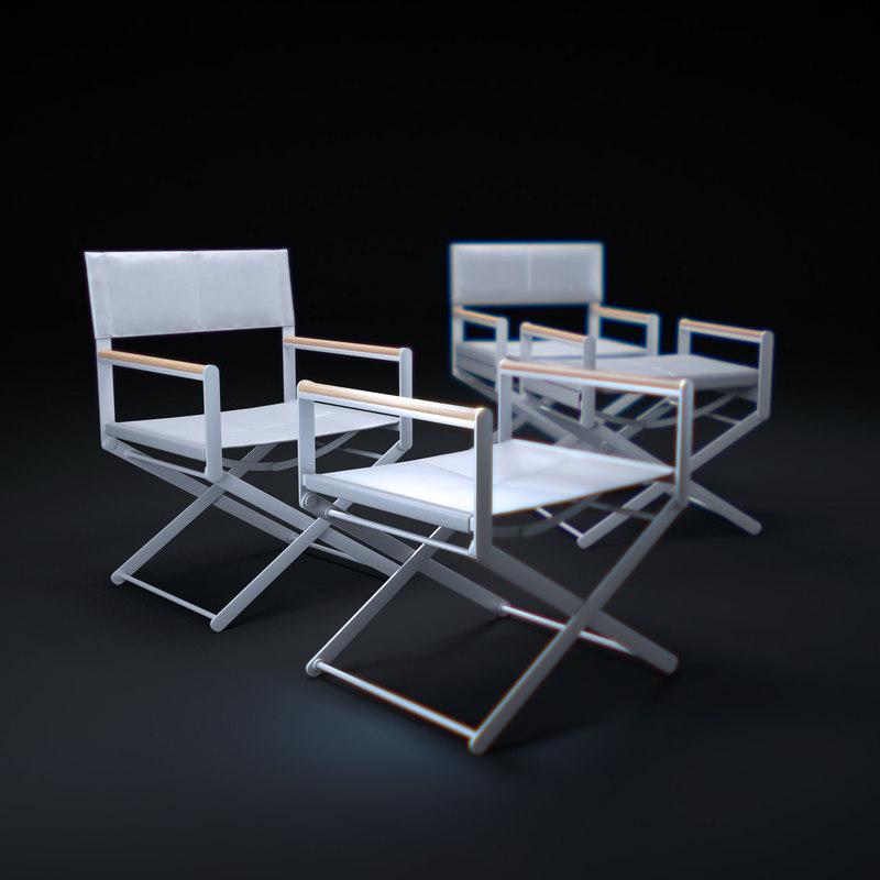 3d model oskar-director s-chair