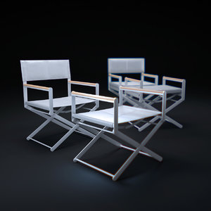 3d model oskar-director s-chair