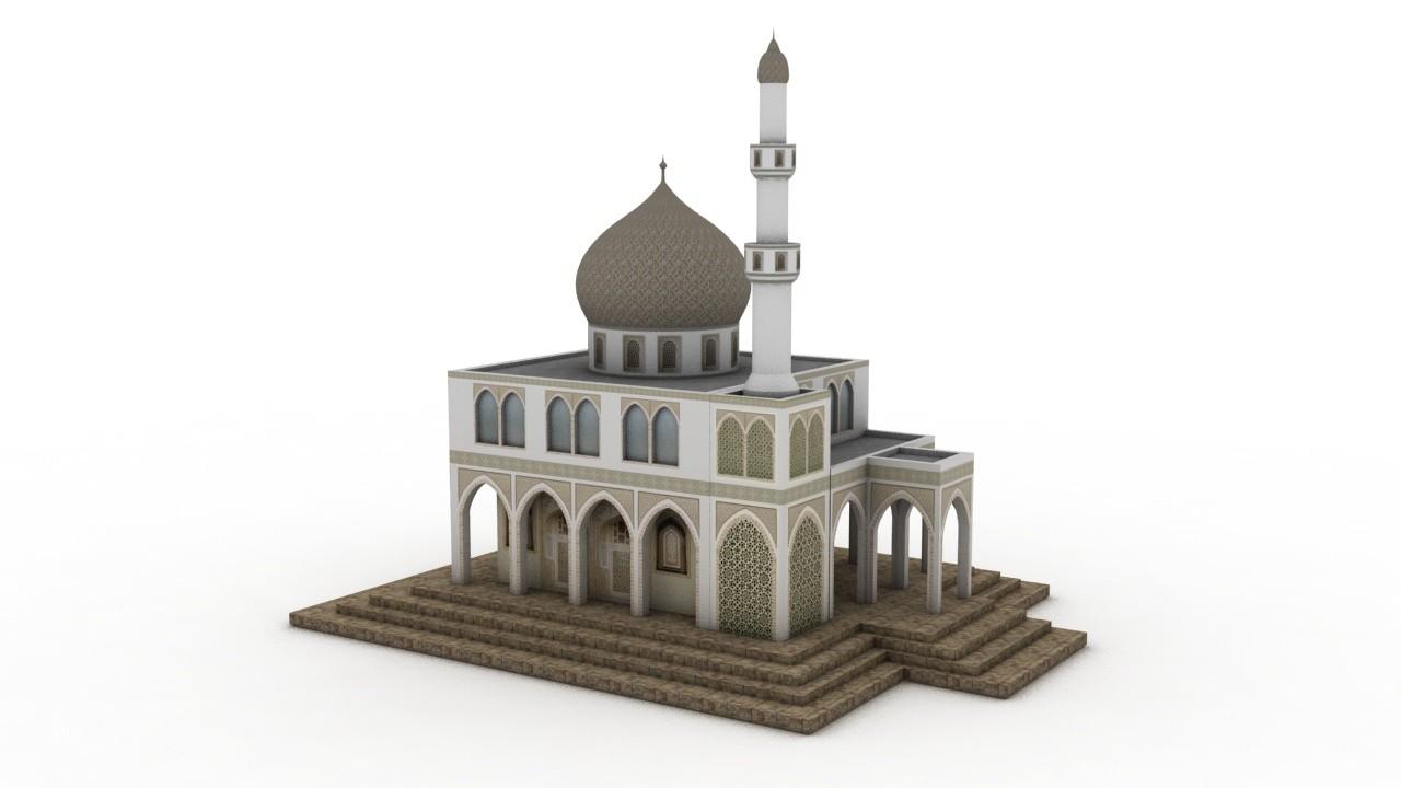 3ds max arabian mosque
