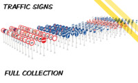 CZ traffic signs - Collection