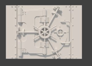 3ds max bank safe door