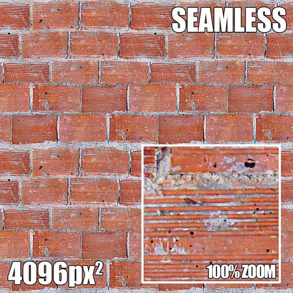 4096 Seamless Texture Brick VII
