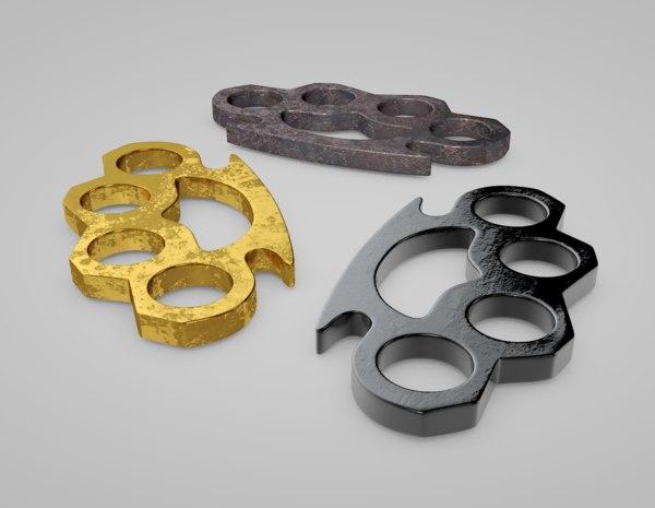c4d brass knuckles