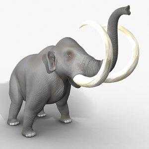 rigged mammoth elephant ma
