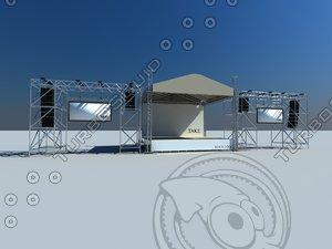 3d concert scene model