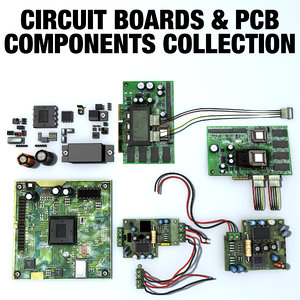 3d model circuit boards pcb components