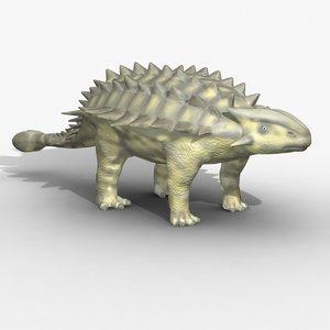 rigged ankylosaurus 3d model