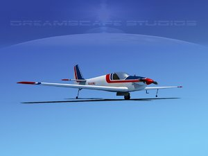 3d model propeller fournier rf-4