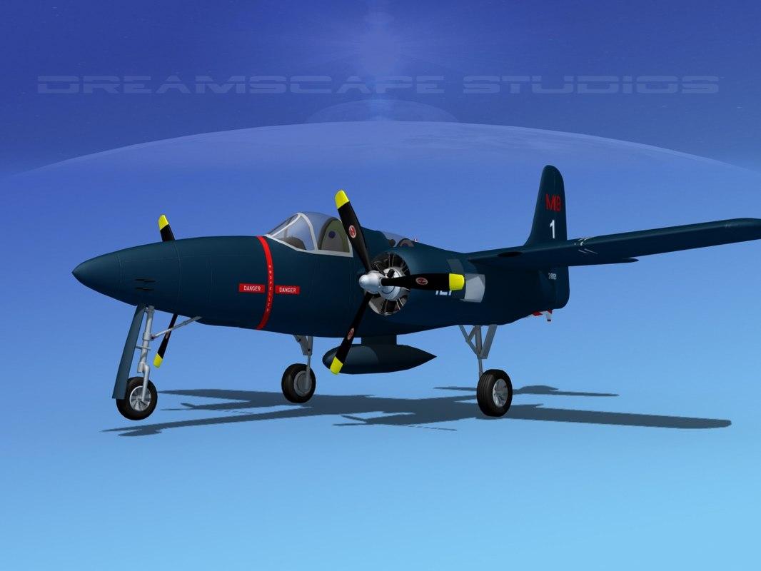 3d model cockpit tigercat fighters