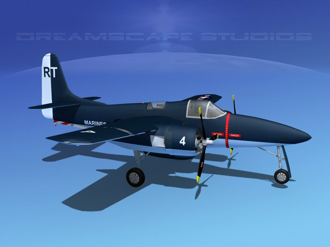 3d model cockpit tigercat fighters