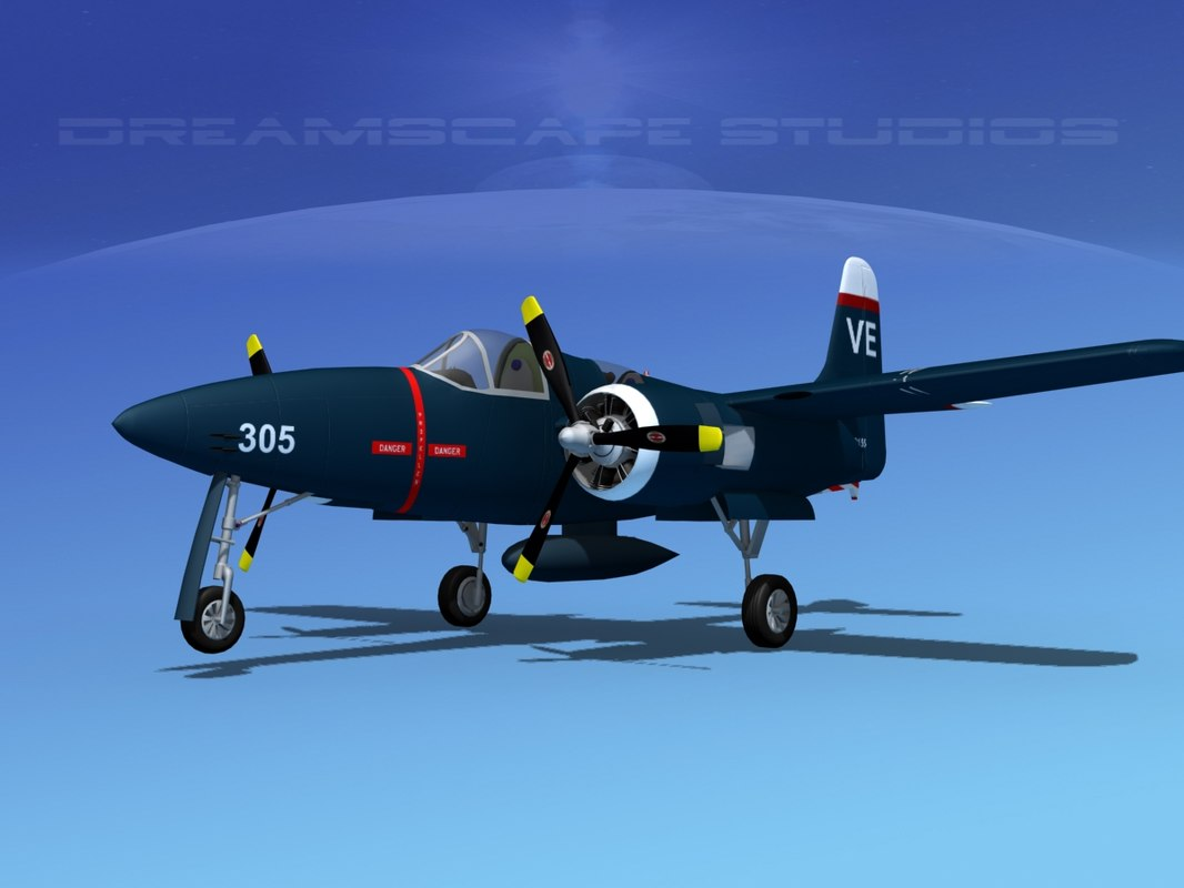cockpit tigercat fighters 3d model