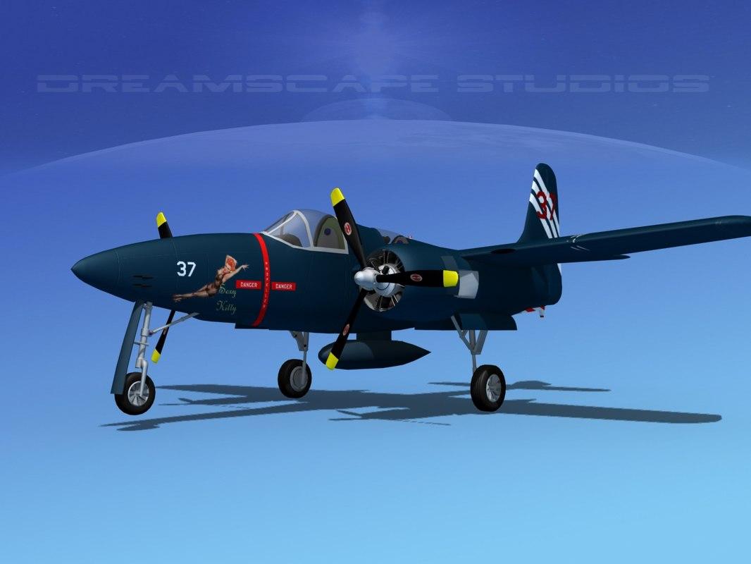 3d cockpit tigercat fighters model