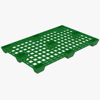 max plastic pallet 2 green