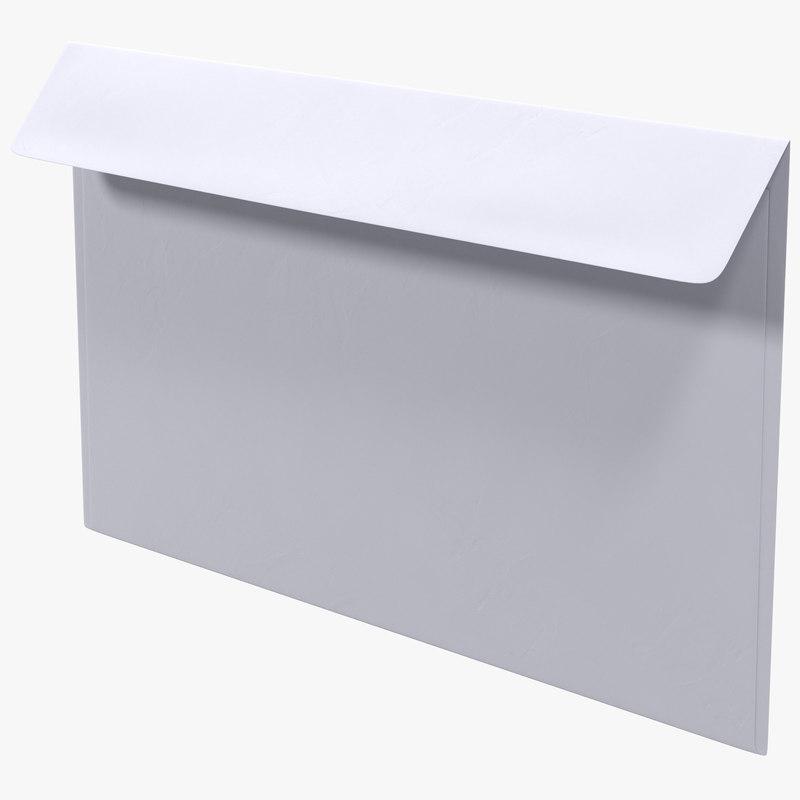 3d white envelope model