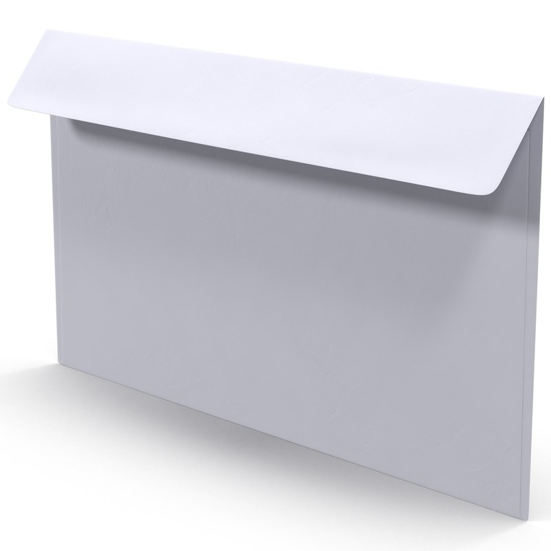 3d white envelope model