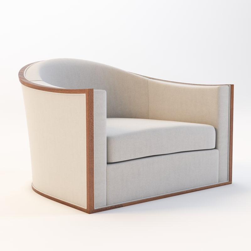 piedmont swivel chair 3d model