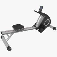 3d rowing machine generic model