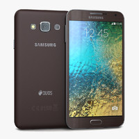 3d samsung galaxy e7 brown
