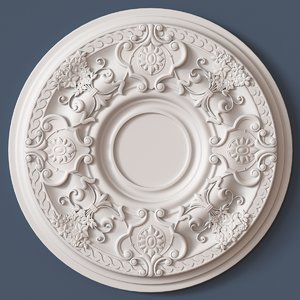 3d model ceiling medallion