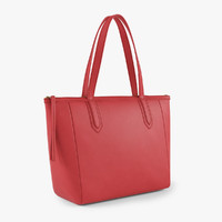 leather shopper bag 3d model