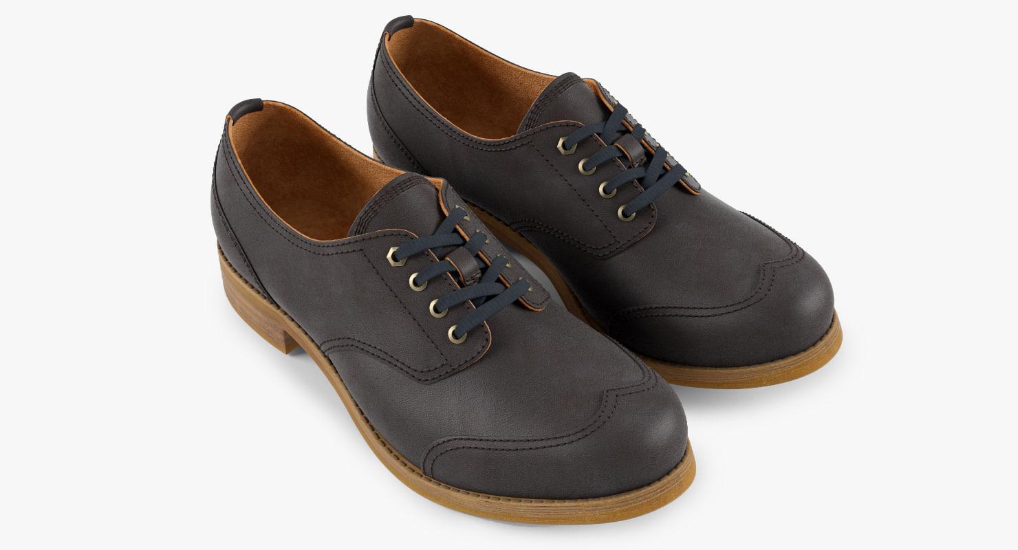 shoes oxford 3d max