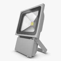 3d model flood light