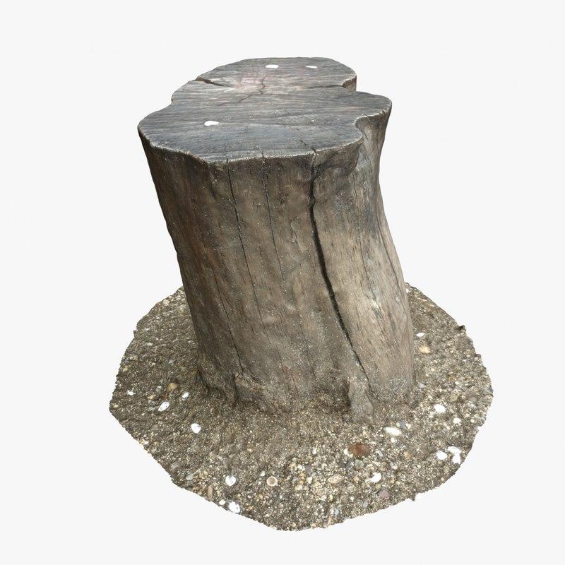 3d tree stump 15 model