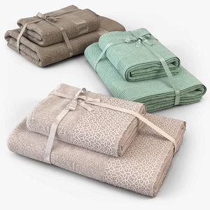 towel cloth fabric 3d model