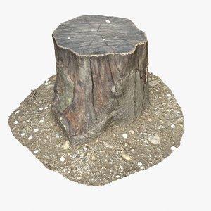 3d model tree stump 16