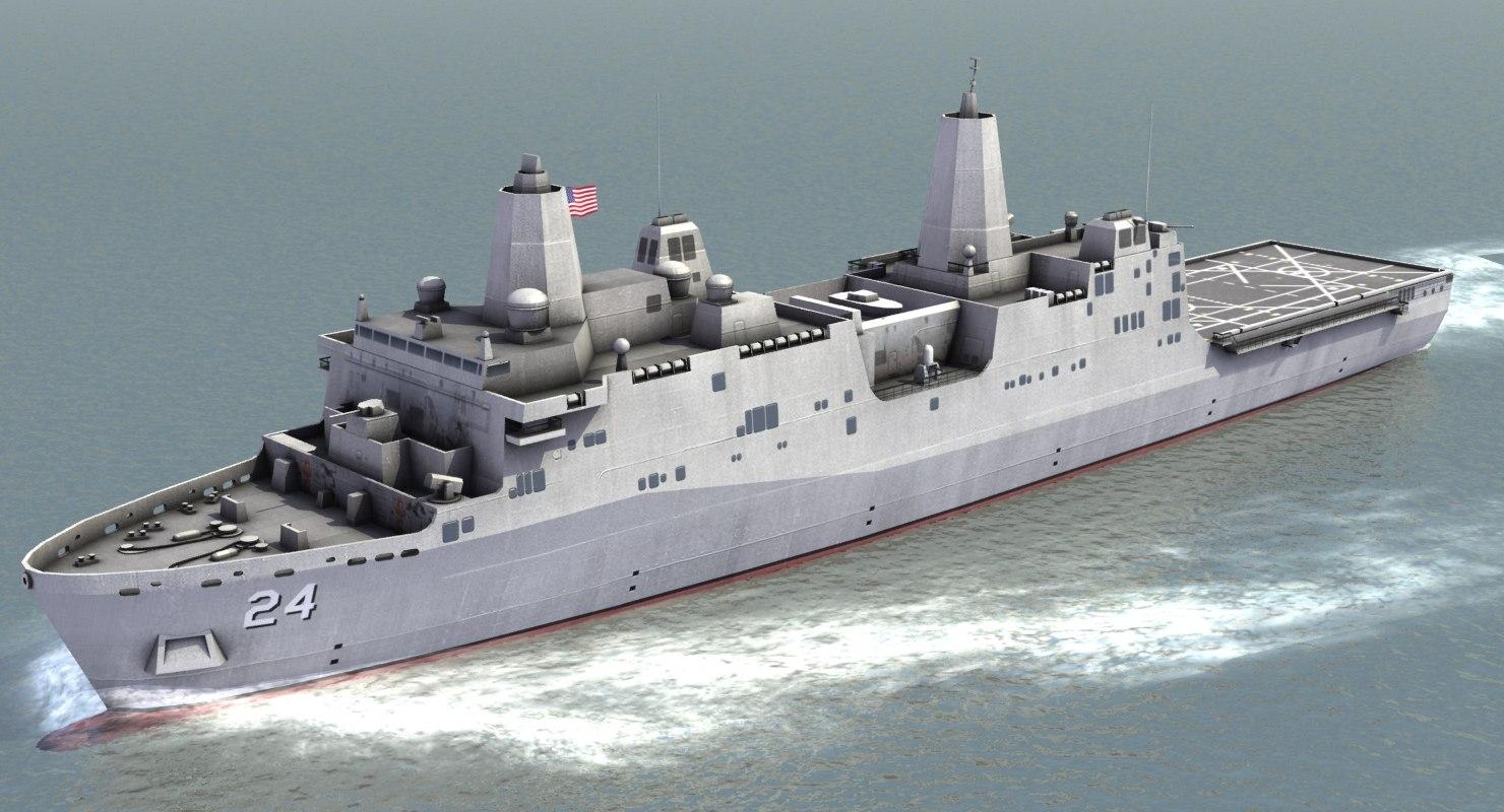 3d lpd-24 assault ship model