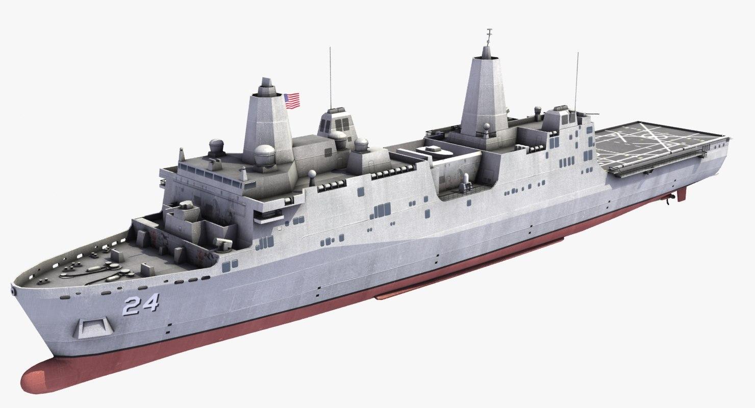 uss arlington lpd-24 ship 3d model