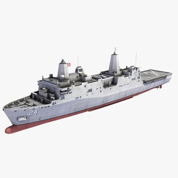 uss arlington lpd-24 ship 3d model