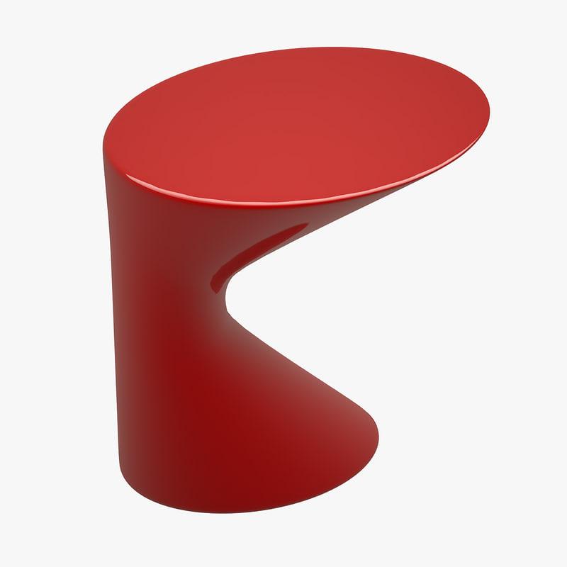 coffee table zanotta 3d model