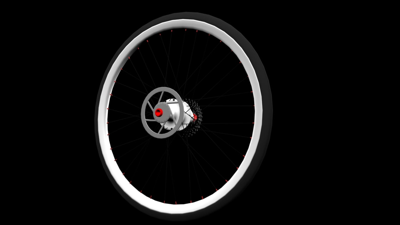 complete bicycle wheel 3d max