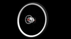 complete bicycle wheel 3d model