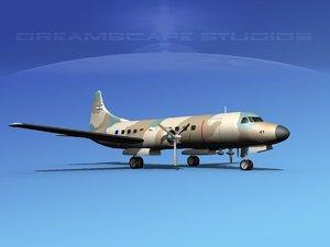 propellers convair c-131 military transport 3ds