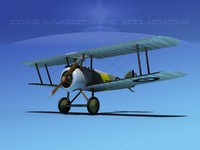 3d model sopwith camel fighter