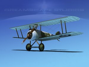 sopwith camel fighter 3d max