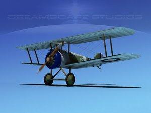 3d sopwith camel fighter model