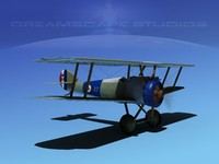 3d sopwith camel fighter model