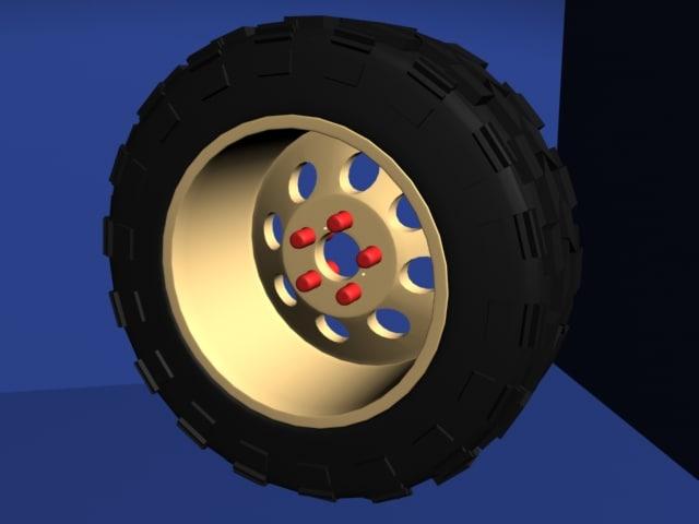3d model jeep tire wheel rim