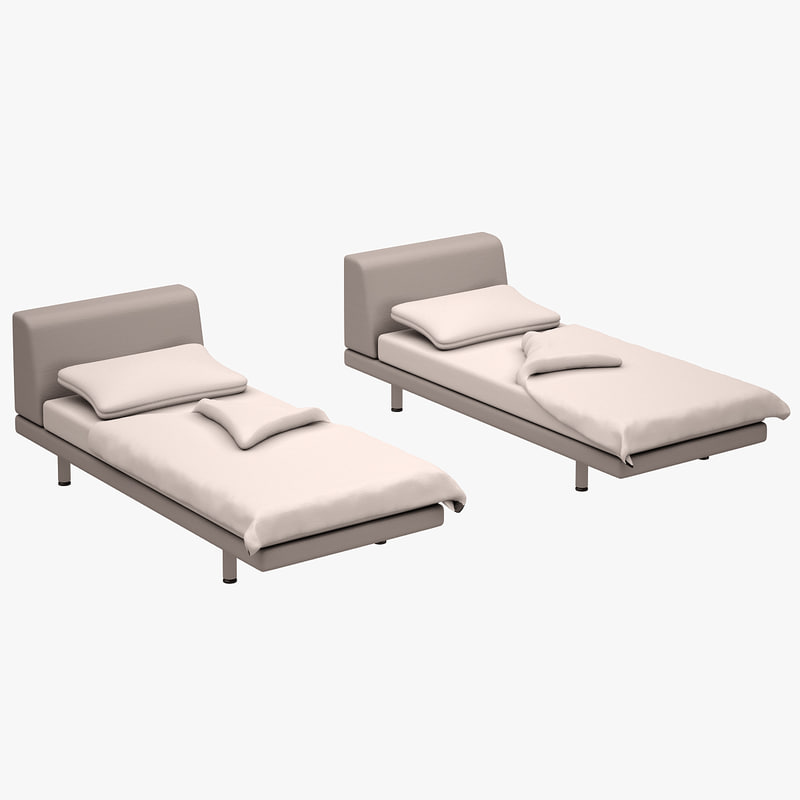 3d model bed set zanotta