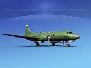 3d propellers convair military transport model
