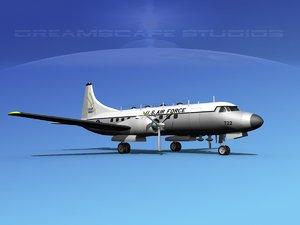 propellers convair t-29 usaf 3d model