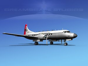 propellers convair military transport 3ds