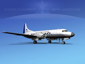 propellers convair c-131 3d model