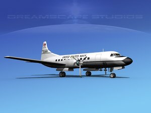 3d propellers convair c-131 military transport